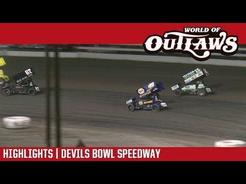 World of Outlaws Craftsman Sprint Cars Devils Bowl Speedway April 28, 2018 | HIGHLIGHTS