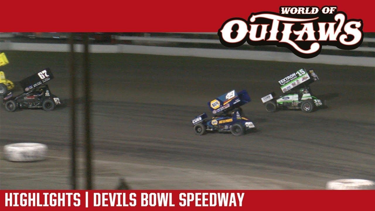 world of outlaws craftsman sprint cars devils bowl speedway april 28