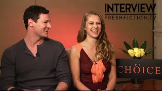 THE CHOICE Interview - Benjamin Walker & Teresa Palmer On Nicholas Sparks Writing Their Lives