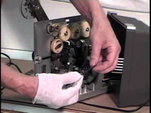 How to replace Bell & Howell 456A Projector Drive Belt Projector runs reverse won