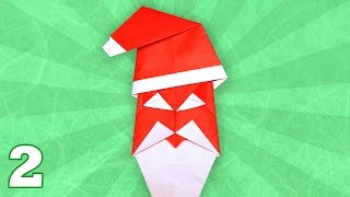Origami Happy Santa By John Smith (folding Instructions) ~part Two~