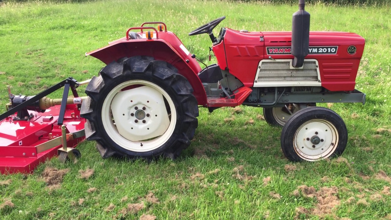 Yanmar Finish Mower : Yanmar wd compact tractor with new ft finishing