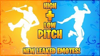 I Changed The Pitch Of The New Fortnite Leaked Emotes And It Sounded... (Slap Happy, Drum Major..)