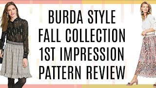 Burda Style  |  Fall Collection |  First Impression Pattern Review