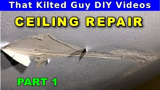 How to Repair a Water Damaged Drywall Ceiling - part 1 of 2