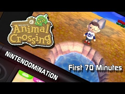 Animal Crossing: New Leaf - First 70 Minutes in FULL HD とびだせ どうぶつの森