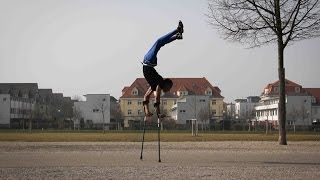 The Fastest Man on Earth - whilst balanced on crutches
