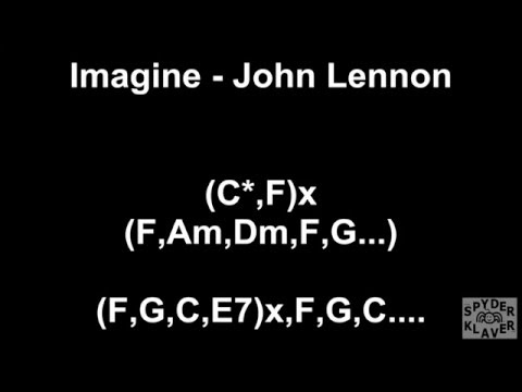 Imagine - John Lennon - Lyrics - Chords