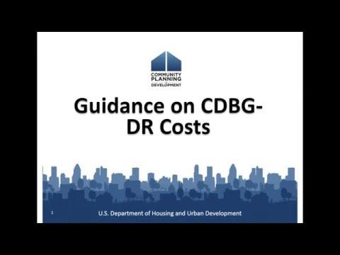 CDBG Webinar: 2016 CDBG-DR Program Planning, Administration & Activity Delivery - 3/29/16