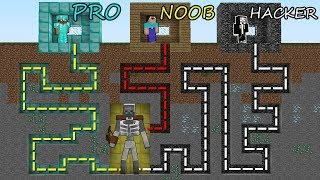 Minecraft Battle: NOOB vs PRO vs HACKER: SURVIVAL IN SKELETON  MUTANT MAZE in Minecraft MAP!