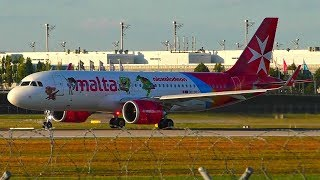 [FullHD] *NEW* Air Malta A320NEO (9H-NEO) Nickelodeon Stickers Taxi+Take off at Munich Airport!
