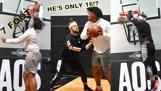 1v1 Against 7 FΟOT FRESHMAN Jahzare Jackson (BIGGEST 16 Year Old in the COUNTRY!)