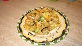 Розы из запеченного картофеля. Оригинальный рецепт для украшения стола.