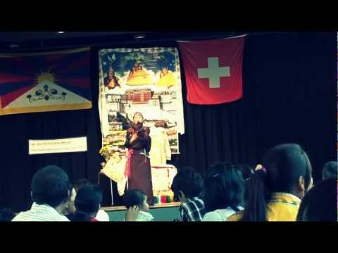 Tibetan song by dekyi in swiss bern party