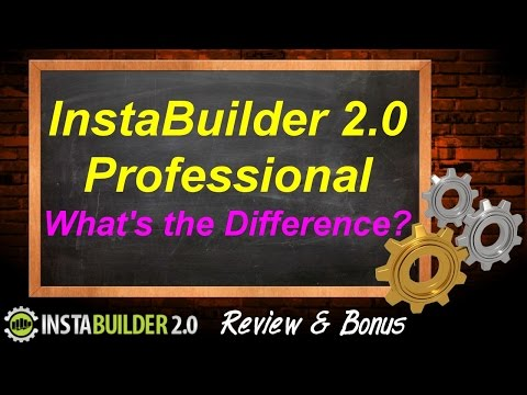 InstaBuilder 2.0 Professional - What's the difference? - InstaBuilder 2.0 Review