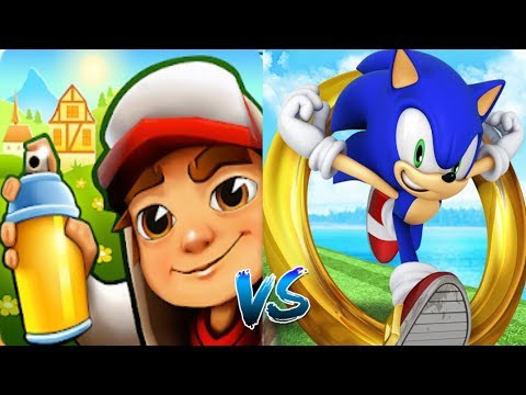 Subway Surfers Zurich JAKE VS Sonic Dash Silver Соревнование