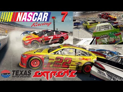 NASCAR'15 The Game: Texas Motor Speedway Best Extreme Longer Crash Compilation 7