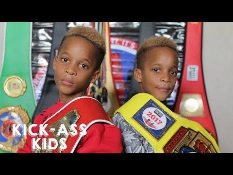 9-Year-Old Twins Are Boxing Champions   KICK-ASS KIDS