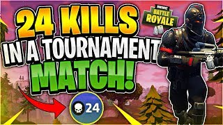 I GOT 24 KILLS! Tournament Highlights #47 (Fortnite Battle Royale)