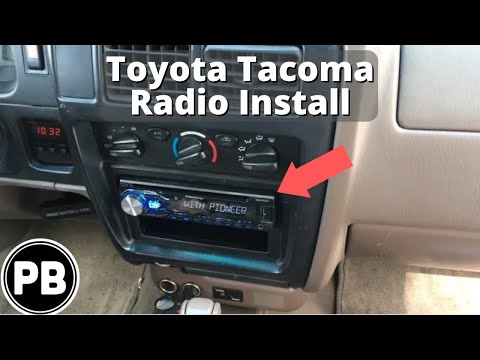 1998 - 2004 Toyota Tacoma Stereo Install Pioneer DEH-X4800BT - YouTube