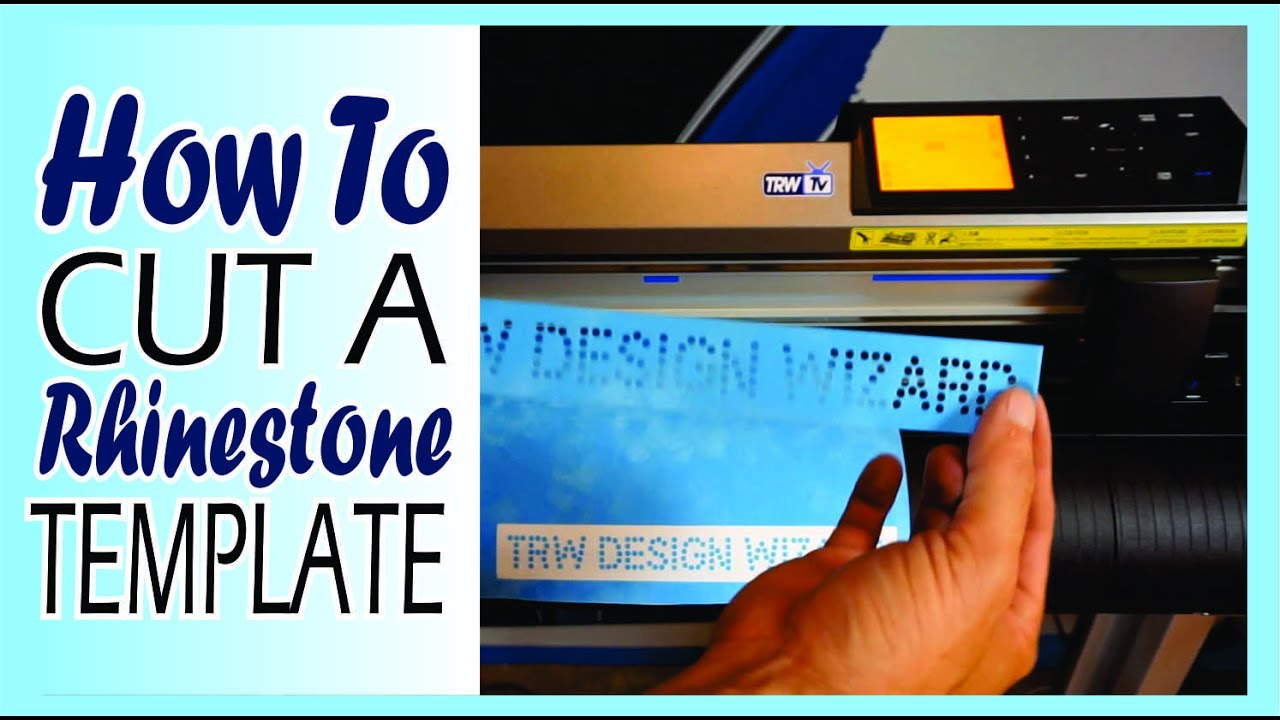 How To Make A Rhinestone Template With Your Graphtec Vinyl Cutter - How to make rhinestone templates