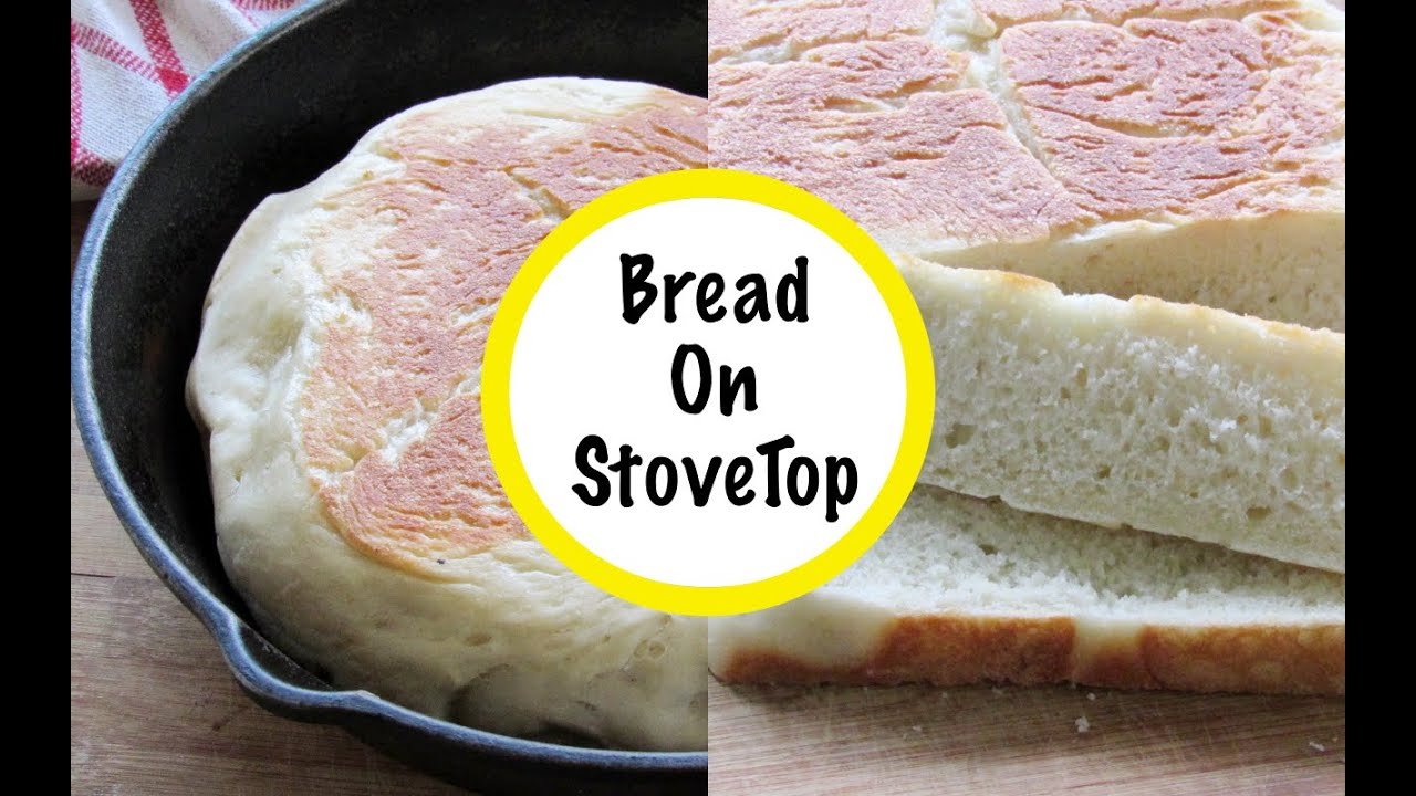 Gas Stove Top Bake Bread In Cast Iron