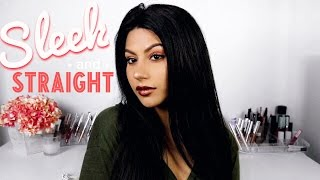 How I Straighten My Wig NO HEAT DAMAGE | Vanity Planet + WowAfrican TLW03 360 Lace Wig