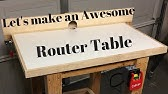 Very simple homemade router table for small projects - YouTube