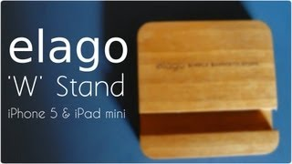 Elago W Stand (natural Wood) For Iphone 5, Ipad Mini (angle Support For Facetime)