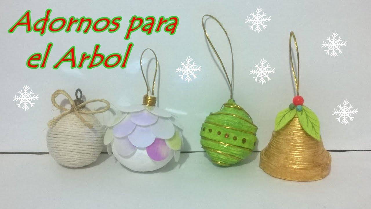 4 ideas de esferas para el rbol navidad youtube - Manualidades para decorar el arbol de navidad ...