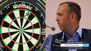 CRAZY SCORE !! Snooker Player Mark Williams 9 Dart Challenge | BetVictor