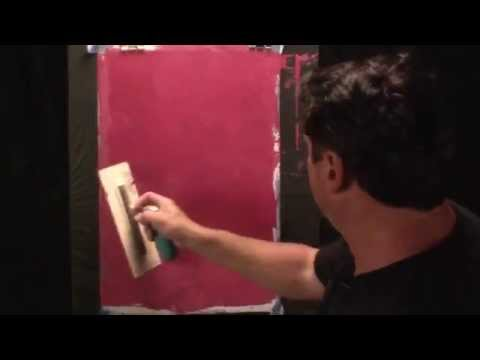 Faux painting techniques for walls, luster plaster
