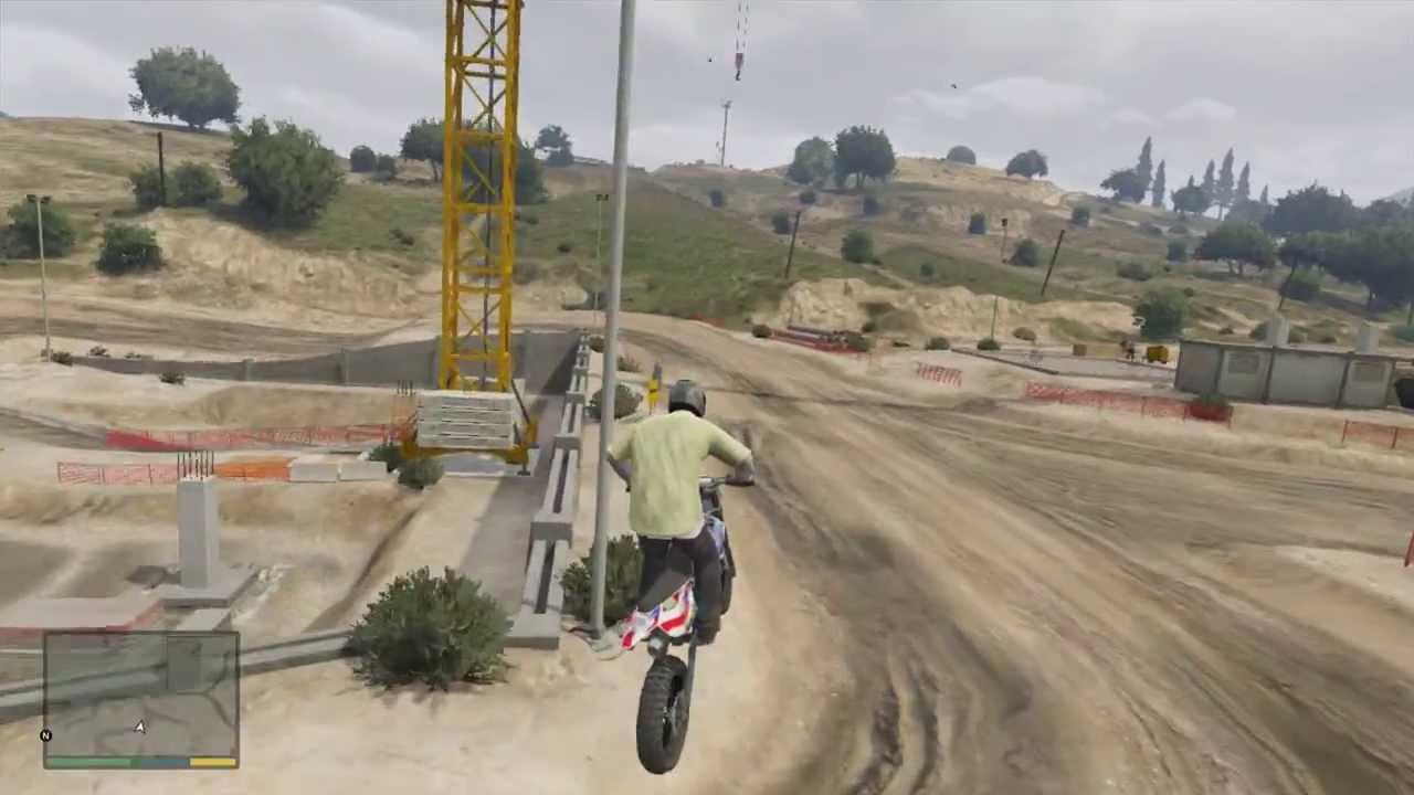 Gta 5 Amazing Dirt Bike Racetrack Location Gameplay Youtube