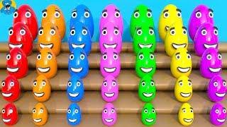 Learn Colors and Sizes with Colorful Kinder Surprise,Учим Цвета Яйца Сюрприз,Aprendizaje a Color
