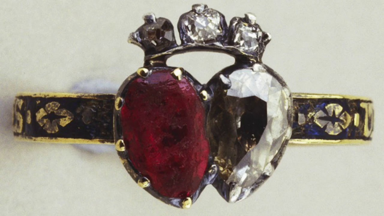 Queen Victoria S Diamond Ruby Ring Inscribed United Forever