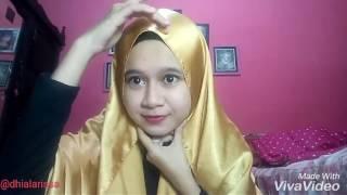 Tutorial Hijab Untuk Pesta Atau Wisuda Pashmina Satin By Dhia Larissa Youtube