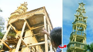 Cận cảnh tòa tháp 9 tầng KỲ DỊ mà lão nông tự xây..!