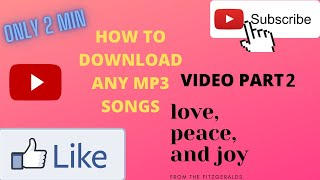 mp3 songs kaise downlode kare (hindi) | part 2 of video