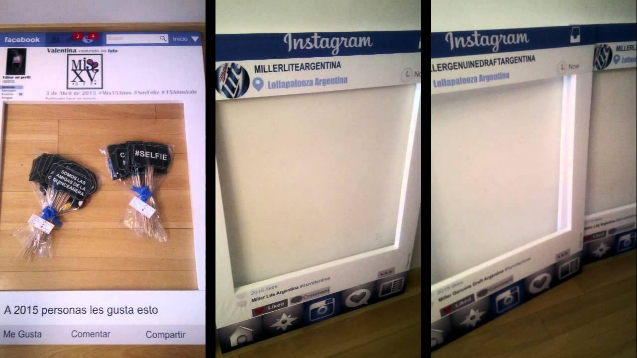ϸ� Marcos Tipo Instagram Facebook Y Youtube Photo Booth