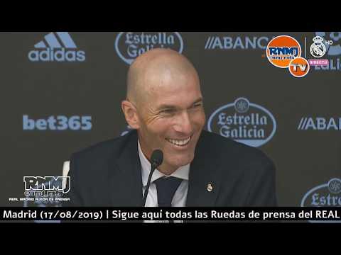Rueda de prensa de ZIDANE post Celta 1-3 Real Madrid Jornada 01