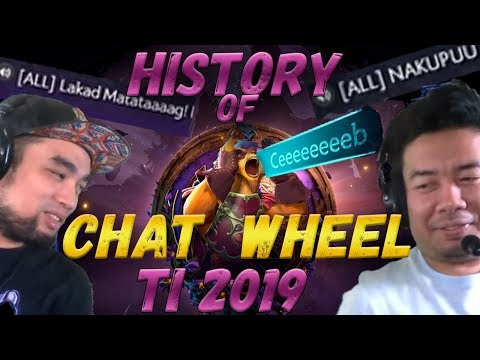 История ВСЕХ Фраз Колеса Чата ИНТ 2019 | History Of TI 2019 Chat Wheel Sound Effects