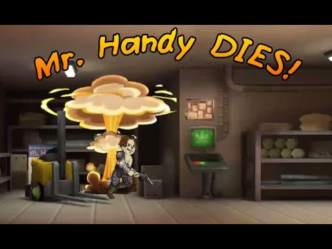 kevin 39 s arcade fallout shelter mr handy dies youtube. Black Bedroom Furniture Sets. Home Design Ideas