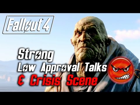 Fallout 4 - Strong - All Low Approval Talks & Crisis Scene (Strong Leaves Forever)