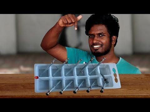 Ice-Tray Battery - Science Experiment ( HINDI )