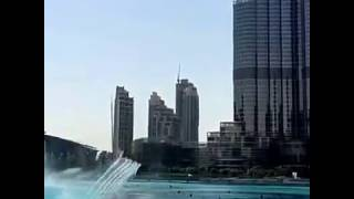World largest fountain - Dubai fountain