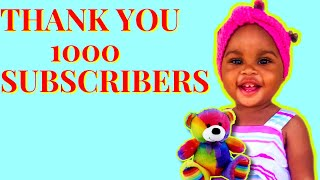 THANK YOU! 1k SUBSCRIBERS