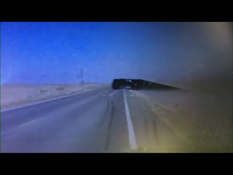 High Winds Tip Truck on Kansas Road