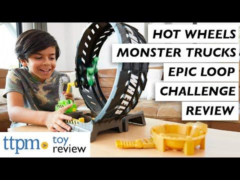 Hot Wheels Monster Trucks Epic Loop Challenge Playset From Mattel