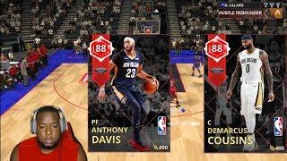 Ruby DeMarcus Cousins & Anthony Davis! Fire & Ice   NBA 2K18 MyTeam