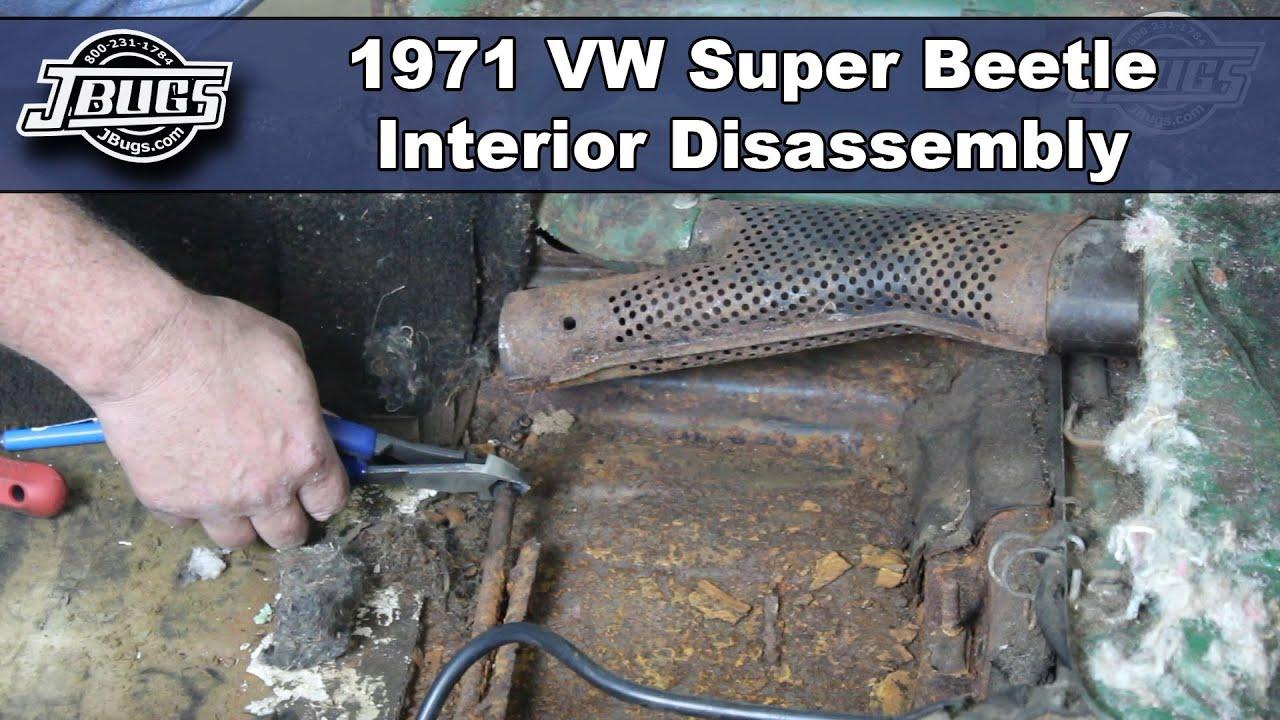 1971 vw wiring jbugs 1971 vw super beetle interior disassembly youtube  jbugs 1971 vw super beetle interior